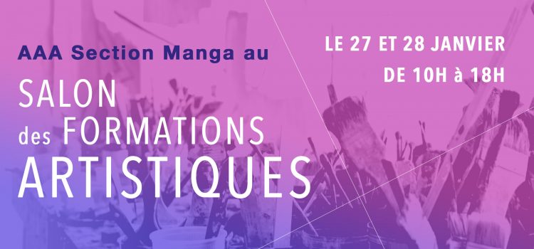 Cours de manga ecole aaa for Salon formations artistiques