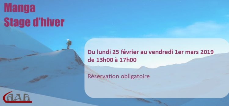 Stage d'hiver 2019